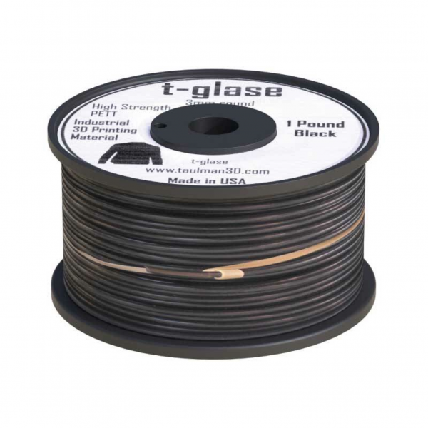 Taulman t-glase Schwarz (black) 1,75mm 450g Premium Filament