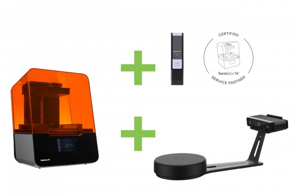 DEAL: Formlabs Form 3 LFS 3D-Drucker Basispaket plus Shining EinScan-SE 3D-Scanner plus 1 Resin
