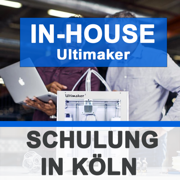 Individuelle Ultimaker SCHULUNG - IN-HOUSE 3Dmensionals Köln