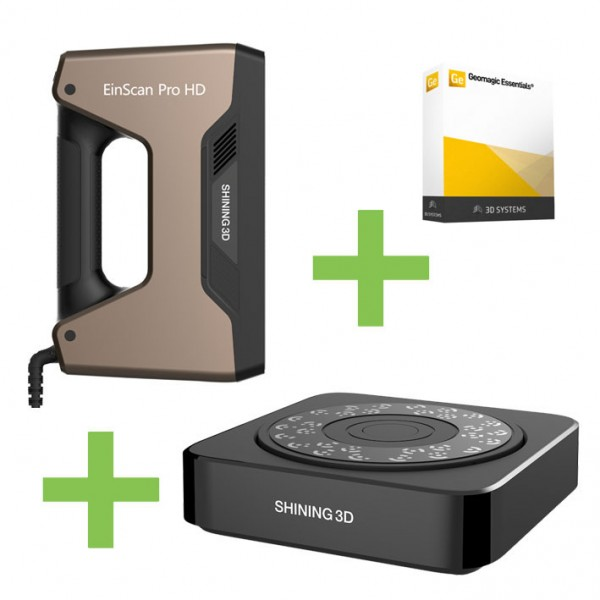 DEAL: Shining 3D EinScan Pro HD 3D-Scanner plus Industrial Pack und Geomagic Essentials