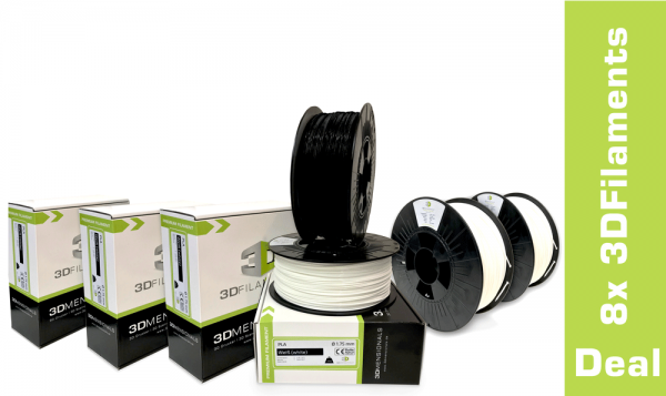 DEAL: 8x 3DFilaments PLA 1,75mm oder 2,85mm 1kg