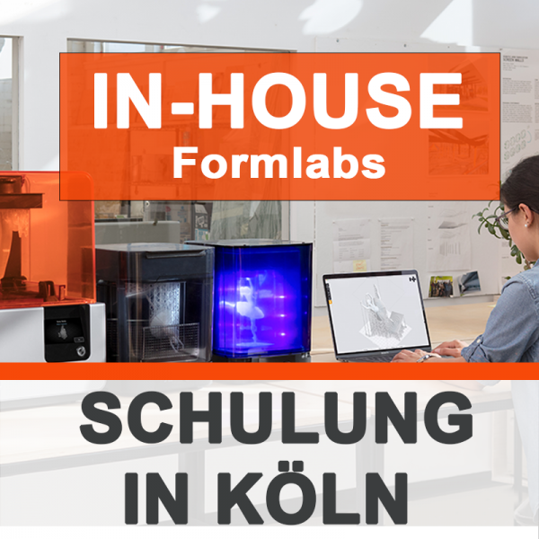 Individuelle Formlabs SCHULUNG - IN-HOUSE 3Dmensionals Köln