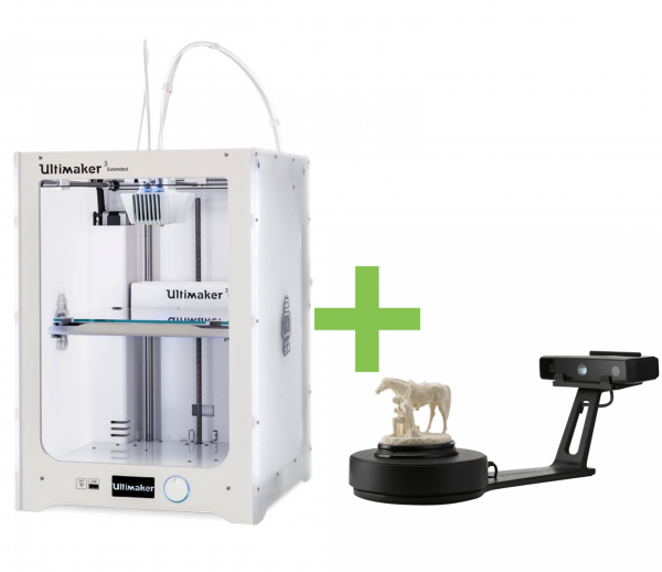 DEAL: Ultimaker 3 Extended Dual Extruder 3D-Drucker plus Shining 3D EinScan-SE 3D-Scanner