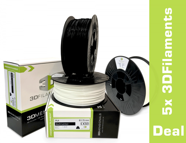 DEAL: 5x 3DFilaments PLA 1,75mm oder 2,85mm 1kg