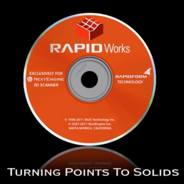 Nextengine RapidWorks 4.0 Reverse-Engineering Software für 3D-Scanner